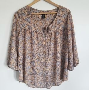 Forever 21 paisley perfect peasant blouse